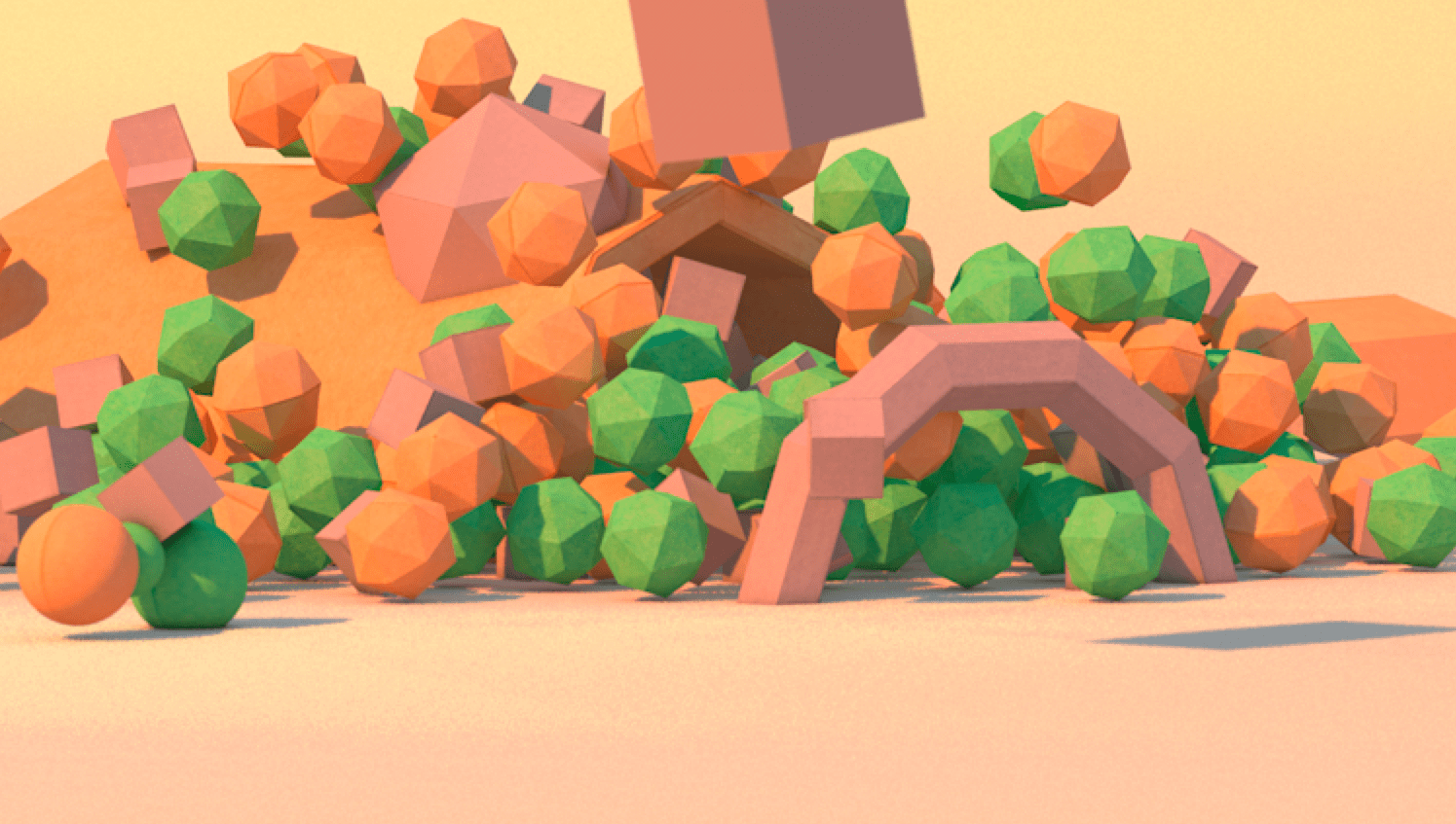Low poly C4D test
