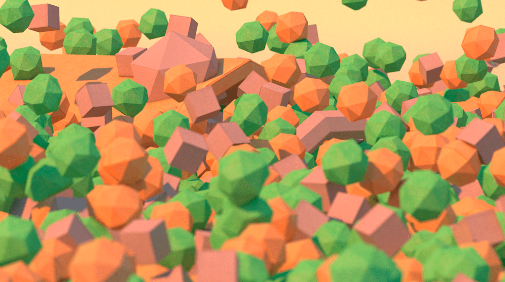 Low poly i DOF C4D test